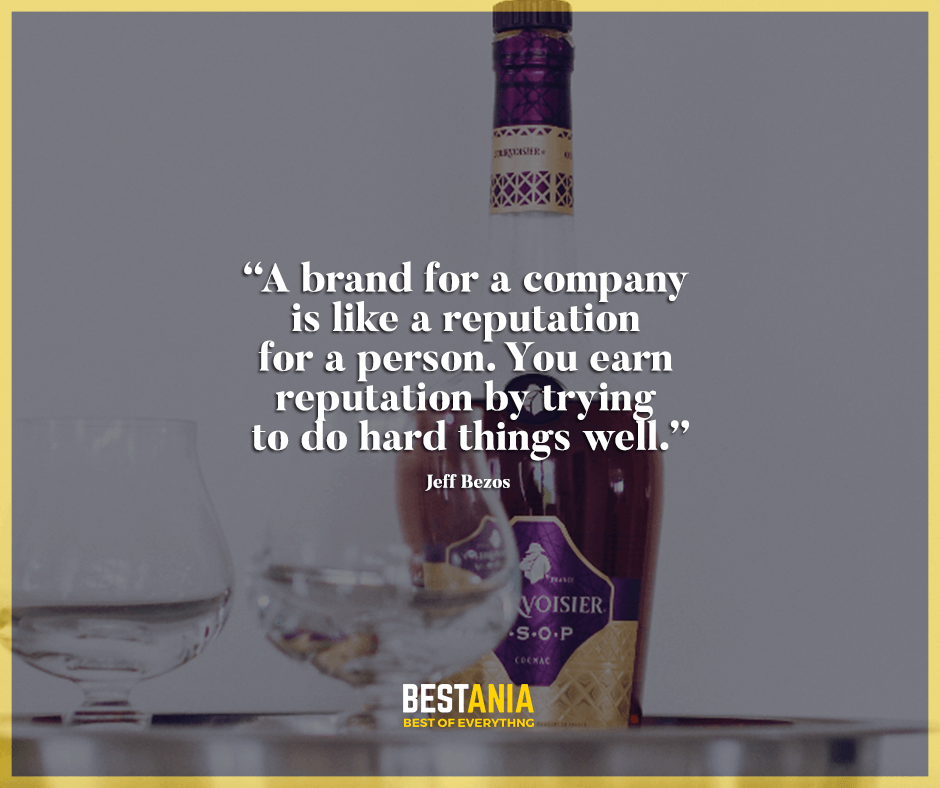 A brand for a company is like a reputation for a person. You earn reputation by trying to do hard things well. Jeff Bezos