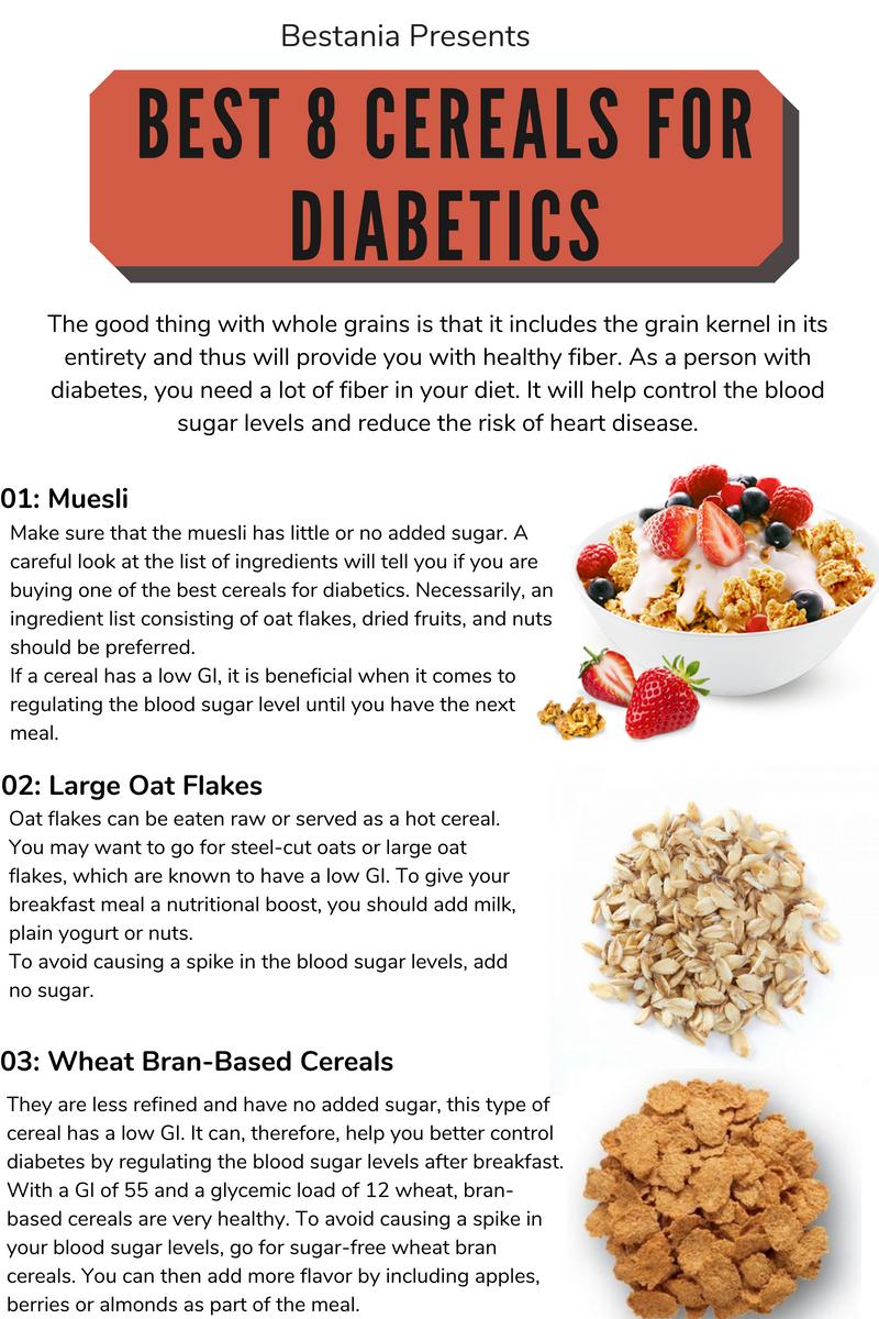 Best 8 Cereals For Diabetics