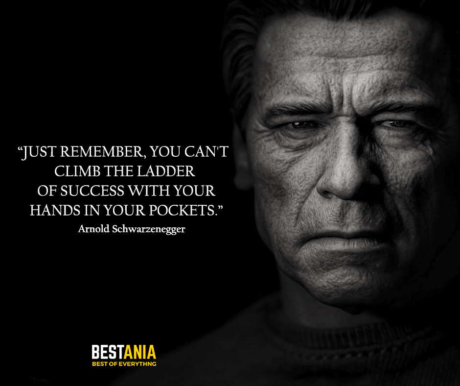 Ladder Quote,,,,,Just remember, you can't climb the ladder of success with your hands in your pockets. Arnold Schwarzenegger