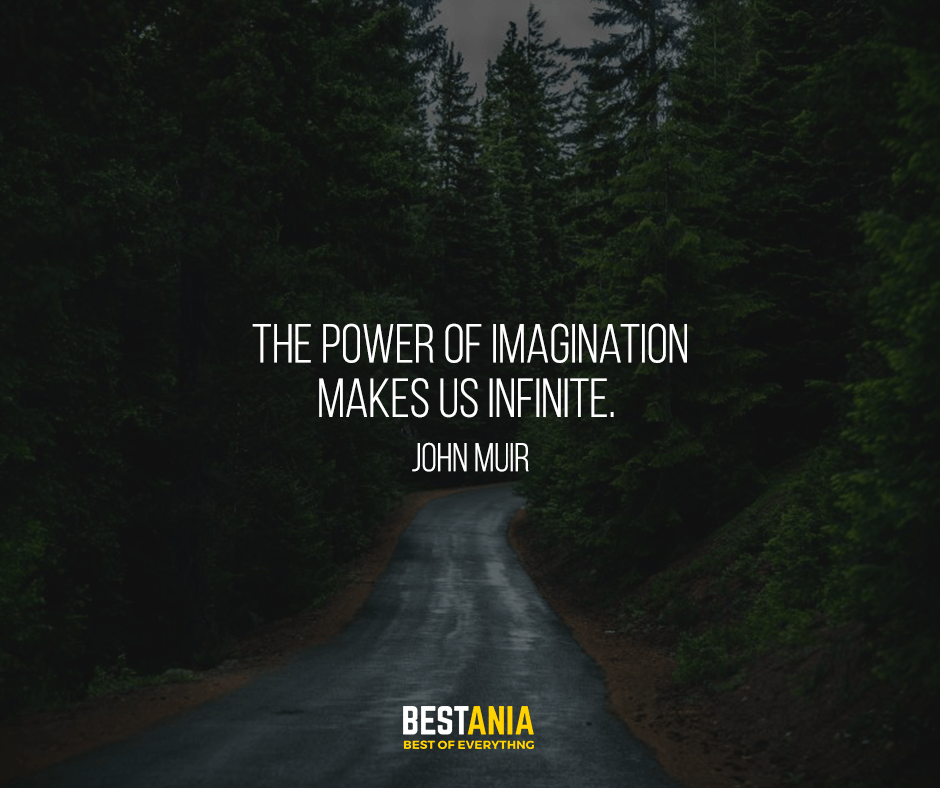 The power of imagination makes us infinite. John Muir