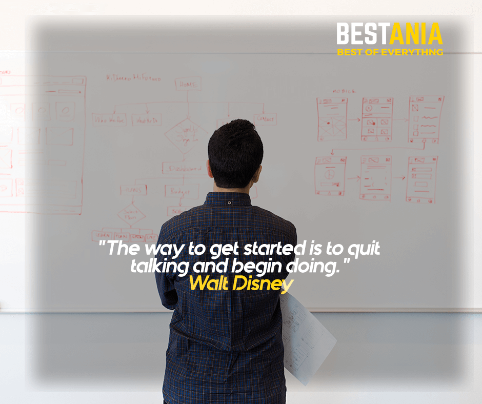 """""""The way to get started is to quit talking and begin doing."""" Walt Disney"""