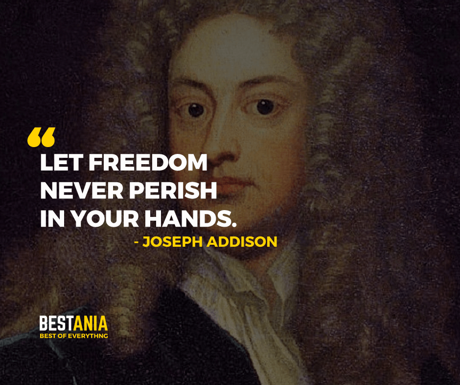"""LET FREEDOM NEVER PERISH IN YOUR HANDS.""    JOSEPH ADDISON"