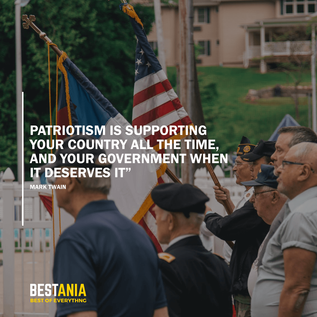 """PATRIOTISM IS SUPPORTING YOUR COUNTRY ALL THE TIME, AND YOUR GOVERNMENT WHEN IT DESERVES IT""  MARK TWAIN"