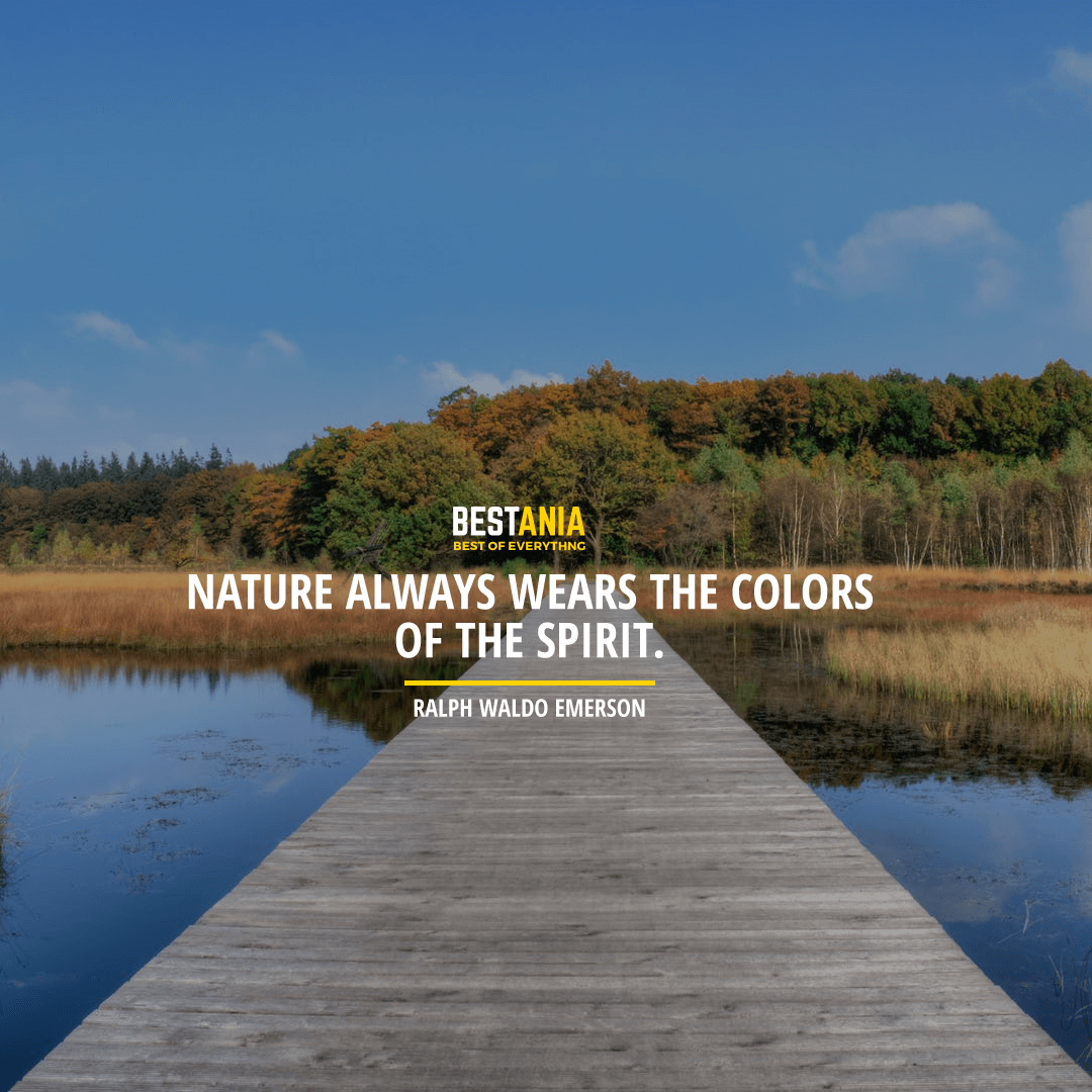 """NATURE ALWAYS WEARS THE COLORS OF THE SPIRIT."" RALPH WALDO EMERSON"