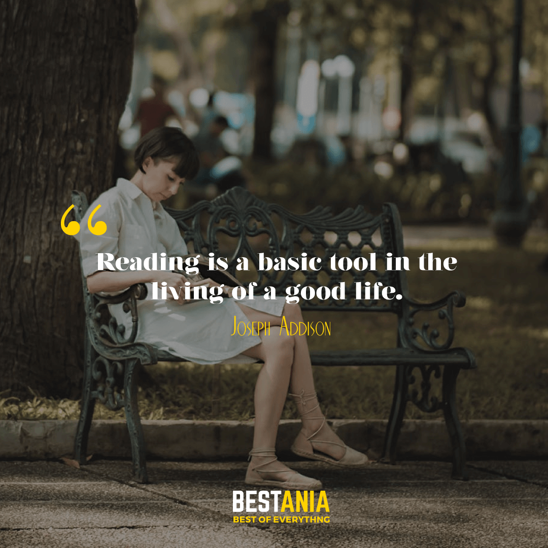 """READING IS A BASIC TOOL IN THE LIVING OF A GOOD LIFE."" JOSEPH ADDISON"