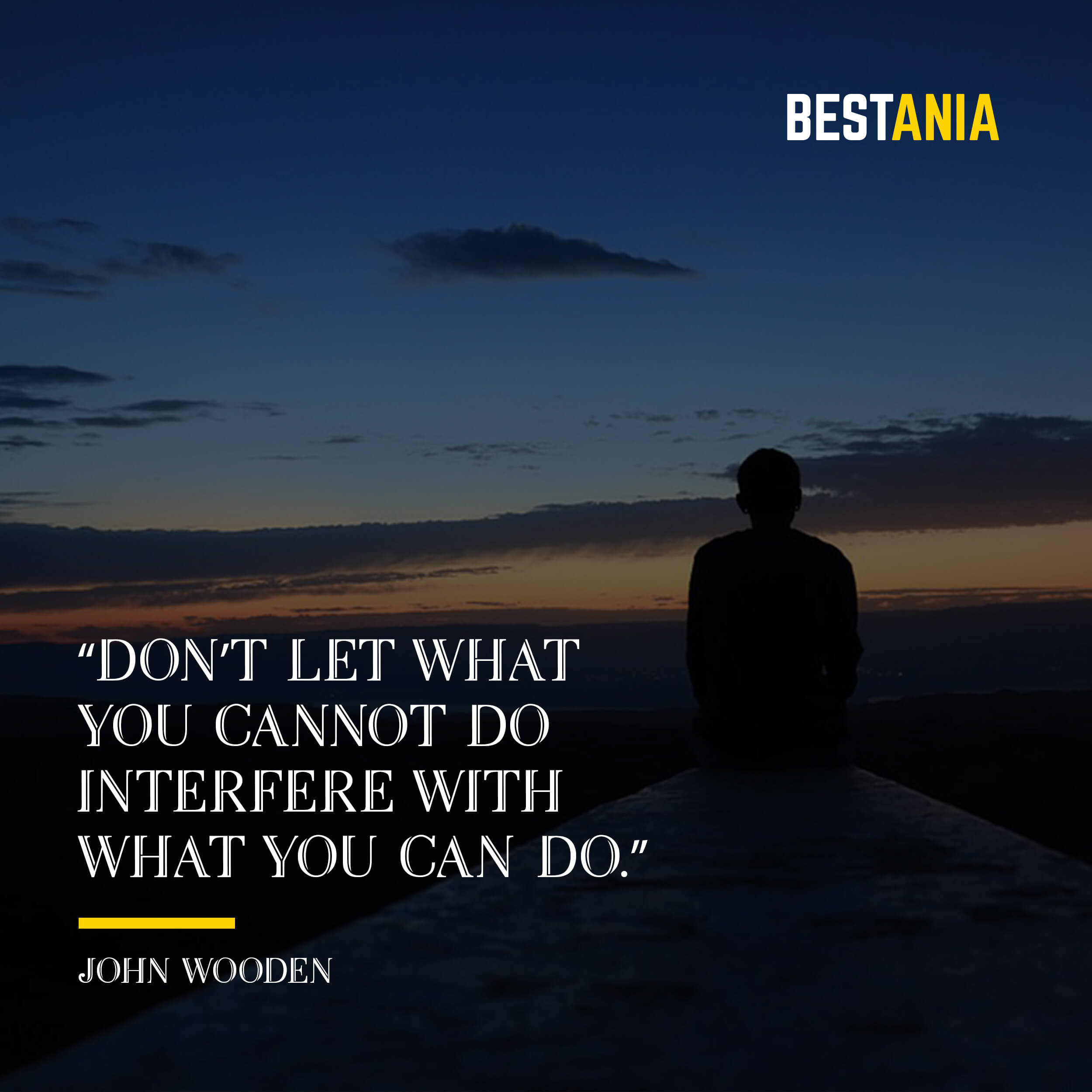 """""""Don't let what you cannot do interfere with what you can do."""" – John Wooden"""