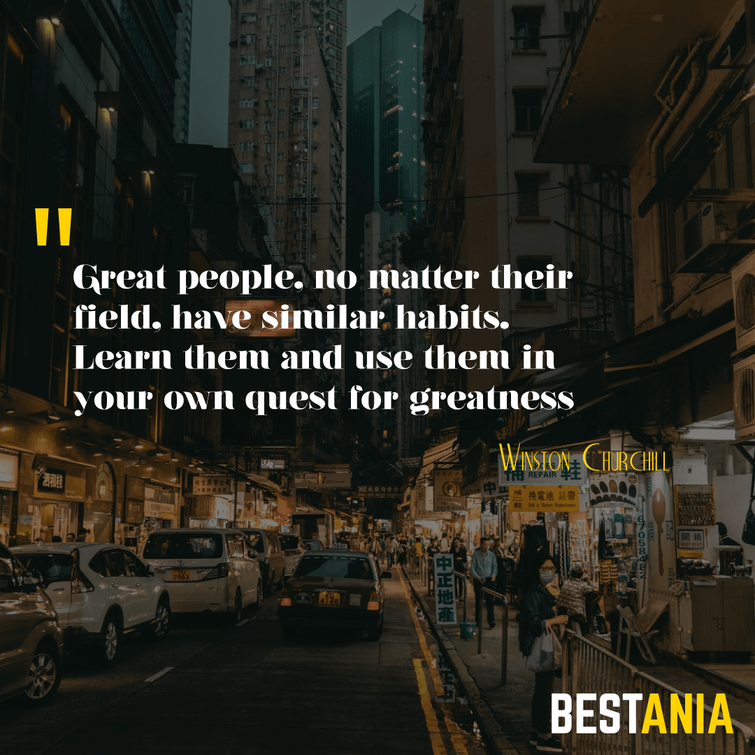 """Great people, no matter their field, have similar habits. Learn them and use them in your own quest for greatness."" – Paula Andress"