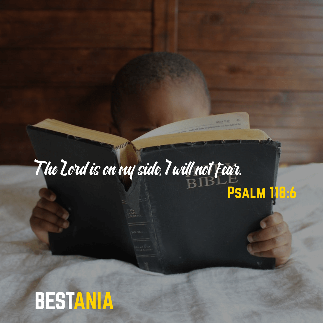 Psalm 118:6 The Lord is on my side; I will not fear.