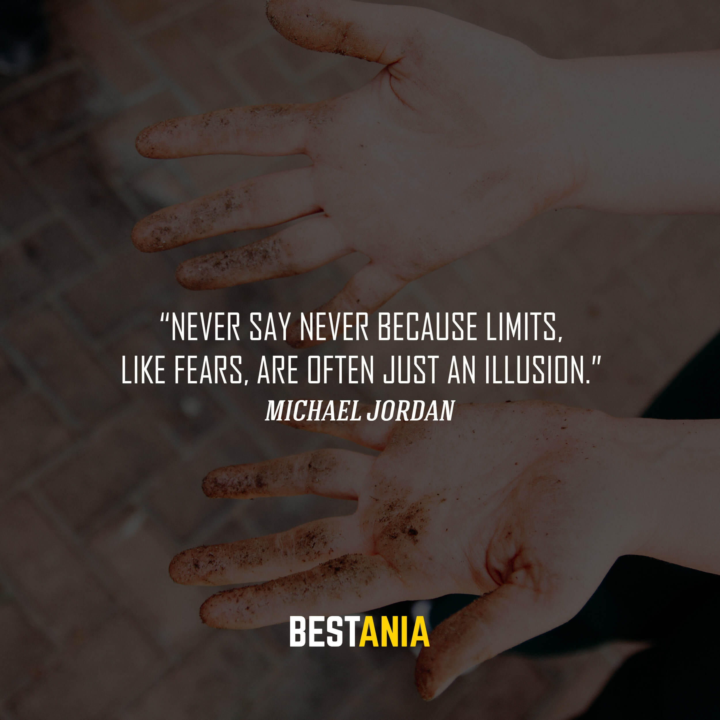 """Never say never because limits, like fears, are often just an illusion."" – Michael Jordan"