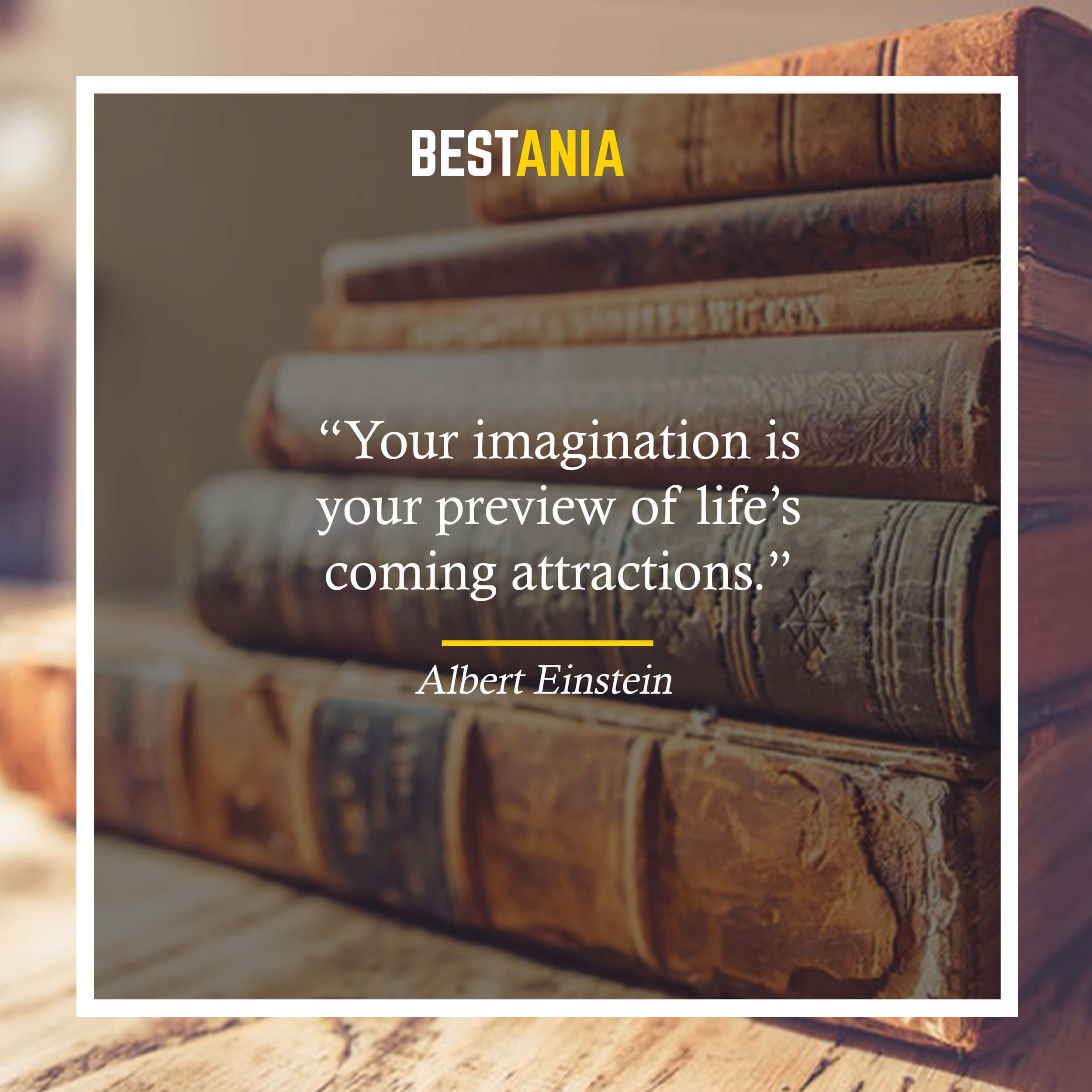 """""""Your imagination is your preview of life's coming attractions."""" – Albert Einstein"""