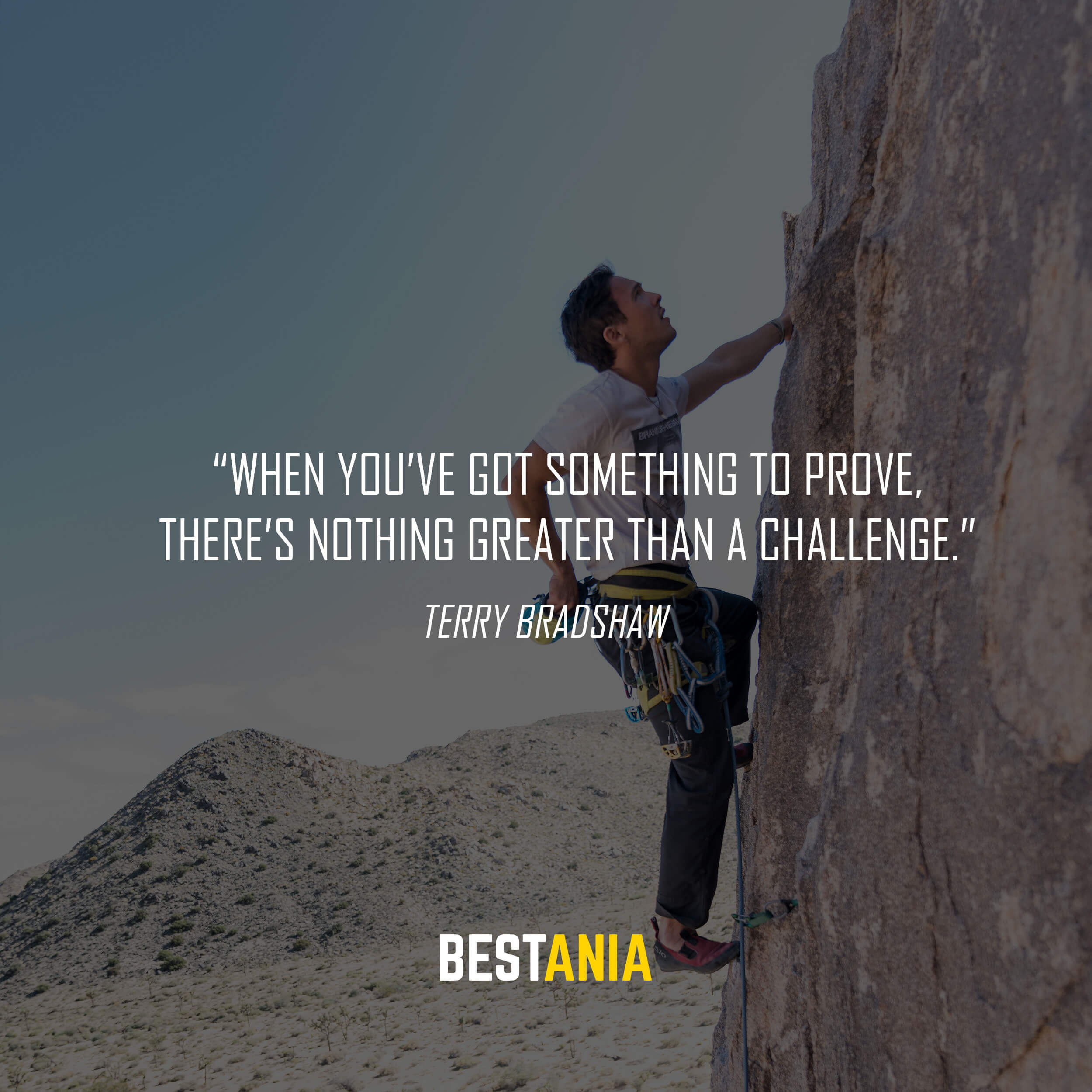 """When you've got something to prove, there's nothing greater than a challenge."" – Terry Bradshaw"