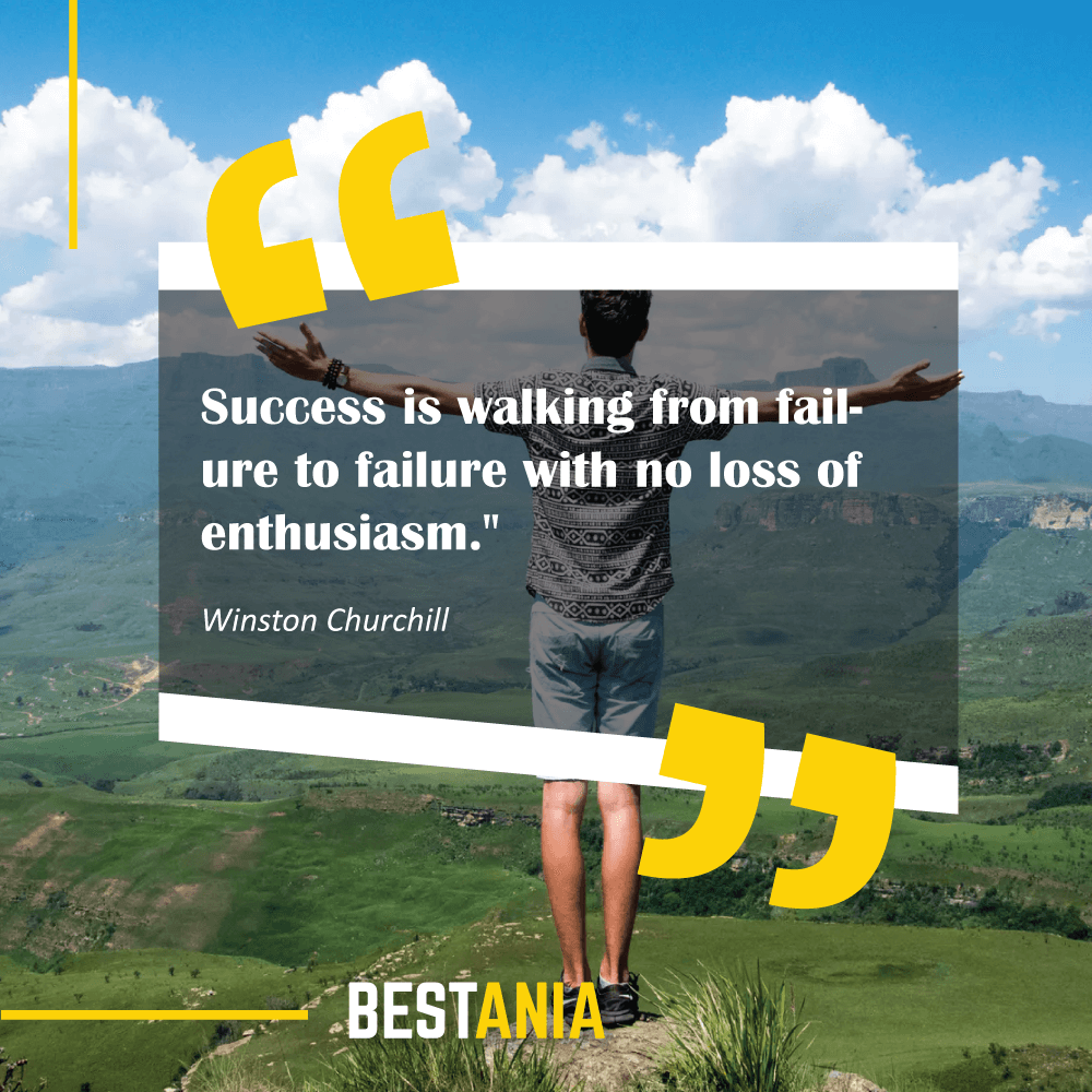 """Success is walking from failure to failure with no loss of enthusiasm."" Winston Churchill"